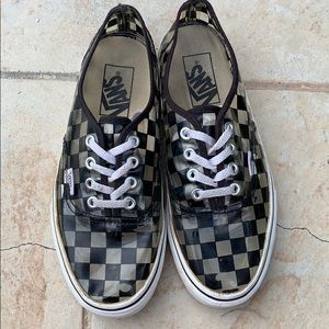 See Through Checkered Vans
